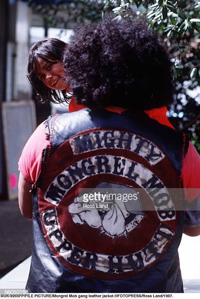 Mongrel Mob gang leather jacket