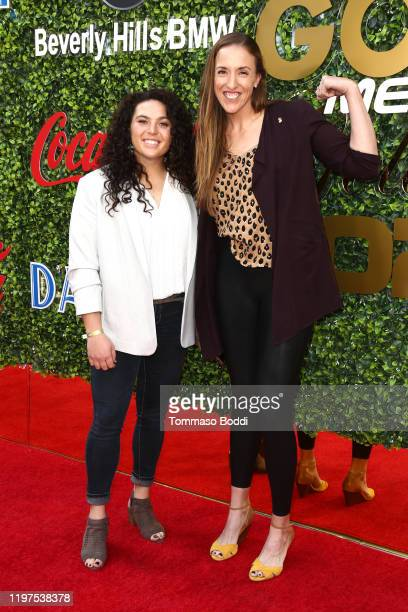 Monica Abbott and Rachel Garcia attend the 7th Annual Gold Meets Golden at Virginia Robinson Gardens and Estate on January 04 2020 in Los Angeles...