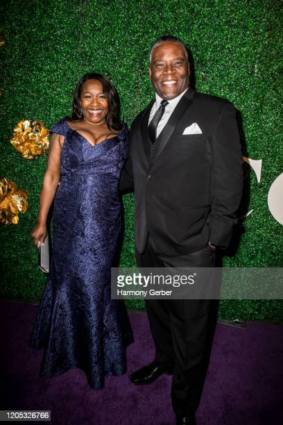 Monica Adams and Jonathan Adams attend the 3rd Annual Griot Gala Oscars After Party 2020 Hosted By Michael K. Williams at Ocean Prime on February 09,...