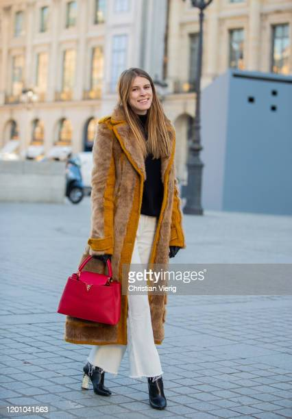 Monica Ainley seen during Paris Fashion Week - Haute Couture Spring/Summer 2020 on January 21, 2020 in Paris, France.
