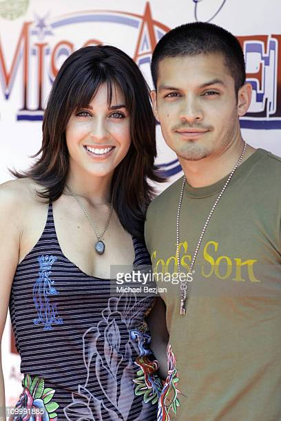 Monica Allgerier and Nicholas Gonzalez during Miss America Jennifer Berry The Reality Cares Foundation and Ed Hardy Shopping Benefit for MADD May 20...
