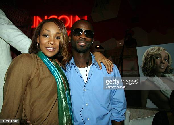 Monica and Bryan Michael Cox during Monica Performance Hosted by Lincoln Reach Higher and Gary Payton November 2 2006 at Nikki Beach Miami in Miami...