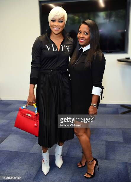 Monica and Keisha Knight Pulliam attend a celebration of woman for Abrams at The Gathering Spot on September 22 2018 in Atlanta Georgia
