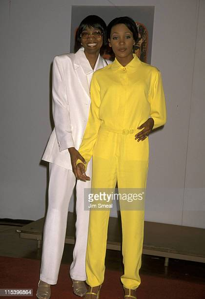 Monica and Mother Marilyn Best during 10th Annual Soul Train Music Awards at Shrine Auditorium in Los Angeles California United States