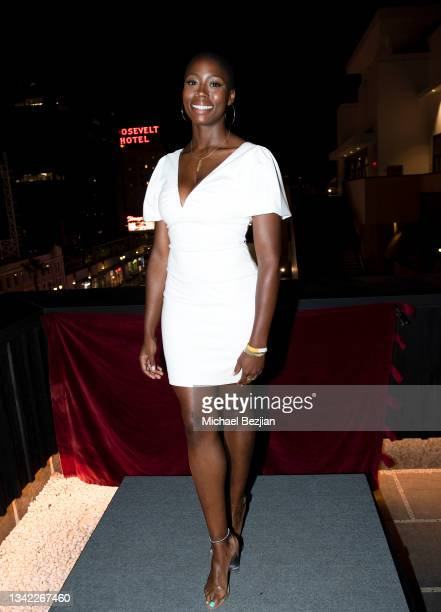 Monica Anegbeode arrives at 17th Annual Oscar-Qualifying HollyShorts Film Festival Opening Night at Japan House Los Angeles on September 23, 2021 in...