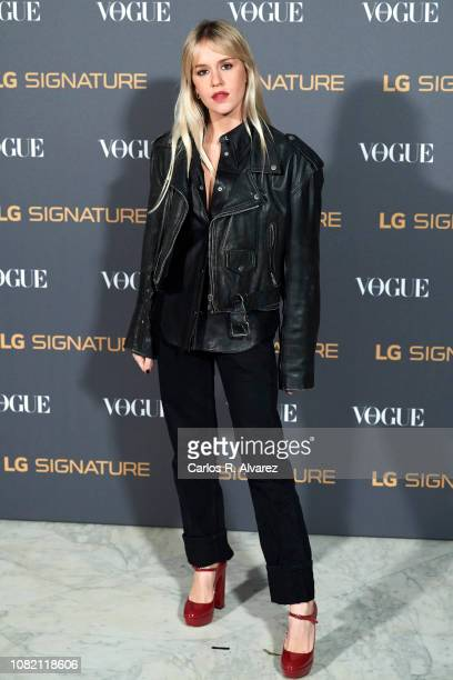 Monica Anoz attends 'Vogue LG Signature' photocall at Carlos Maria de Castro Palace on December 13 2018 in Madrid Spain