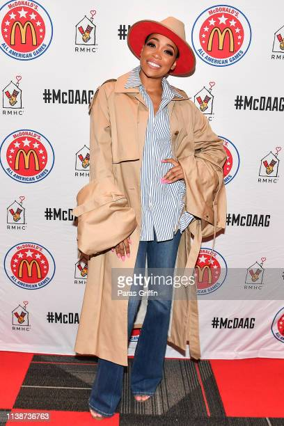 Monica attends the 42nd Annual McDonald's All American Games at State Farm Arena on March 27 2019 in Atlanta Georgia