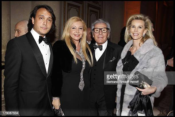 Monica Bacardi and David Jean Daniel Lorieux and Maitre Laura Restelli at The Charity Gala Evening At Versailles Castle In Aid Of AVEC Association...