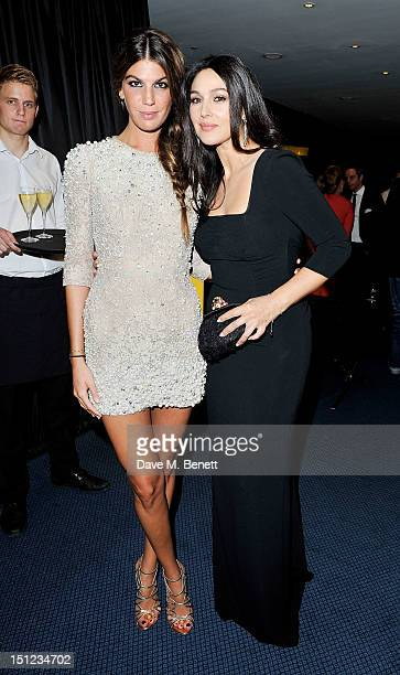 Monica Bellucci and Bianca Brandolini arrive at the GQ Men Of The Year Awards 2012 at The Royal Opera House on September 4 2012 in London England