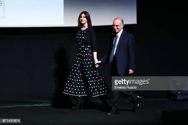 Monica Bellucci and Giuseppe Tornatore attend The Virna Lisi Award at Auditorium Parco Della Musica on November 7 2017 in Rome Italy