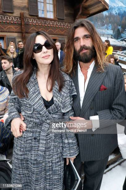 Monica Bellucci and her companion Nicolas Lefebvre attend the Chanel show as part of the Paris Fashion Week Womenswear Fall/Winter 2019/2020 on March...