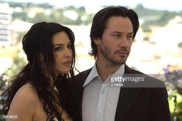 Monica Bellucci and Keanu Reeves at the Palais des Festivals in Cannes France