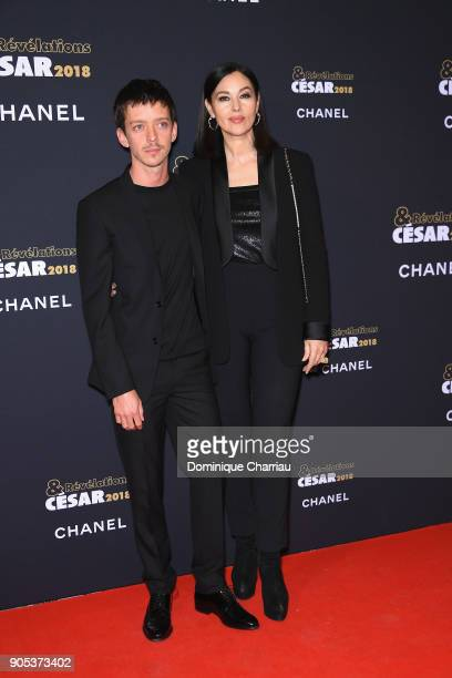 Monica Bellucci and Nahuel perez Biscayart attend the 'Cesar Revelations 2018' Party at Le Petit Palais on January 15 2018 in Paris France