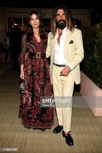Monica Bellucci and Nicolas Lefebvre arrive at a Dior dinner party during the 72nd annual Cannes Film Festival at on May 15 2019 in Cannes France