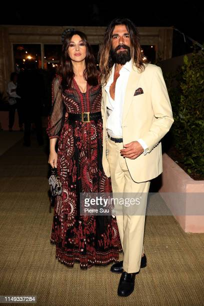 Monica Bellucci and Nicolas Lefebvre arrive at a Dior dinner party during the 72nd annual Cannes Film Festival at on May 15, 2019 in Cannes, France.