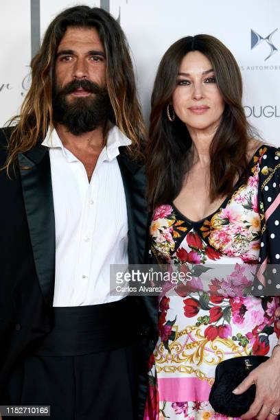 Monica Bellucci and Nicolas Lefebvre attend ELLE Charity Gala 2019 to raise funds for cancer at Intercontinental Hotel on May 30 2019 in Madrid Spain