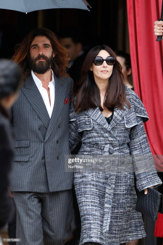 Monica Bellucci And Nicolas Lefevre In Paris : News Photo