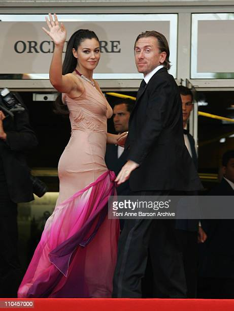 Monica Bellucci and Tim Roth during 2006 Cannes Film Festival Palme D'Or Arrivals at Palais des Festivals in Cannes France
