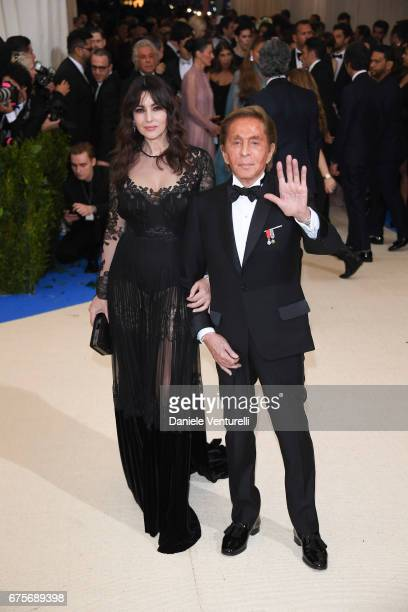 """Monica Bellucci and Valentino attend """"Rei Kawakubo/Comme des Garcons: Art Of The In-Between"""" Costume Institute Gala - Arrivals at Metropolitan Museum..."""