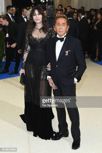 Monica Bellucci and Valentino Garavani attend the 'Rei Kawakubo/Comme des Garcons Art Of The InBetween' Costume Institute Gala at Metropolitan Museum...