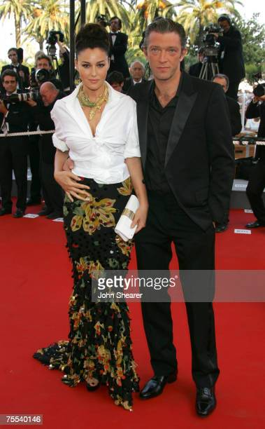 Monica Bellucci and Vincent Cassel at the Palais des Festival in Cannes, France.