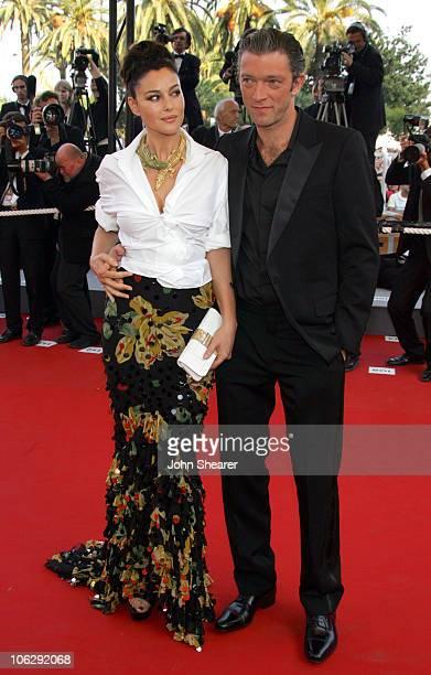 "Monica Bellucci and Vincent Cassel during 2006 Cannes Film Festival - ""Indigenes"" Premiere at Palais des Festival in Cannes, France."