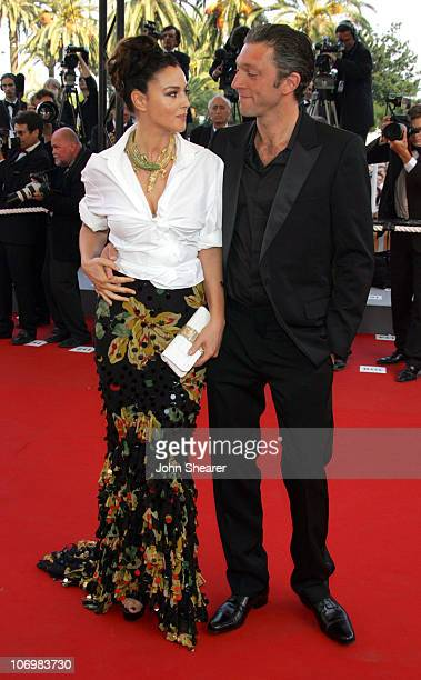 Monica Bellucci and Vincent Cassel during 2006 Cannes Film Festival 'Indigenes' Premiere at Palais des Festival in Cannes France