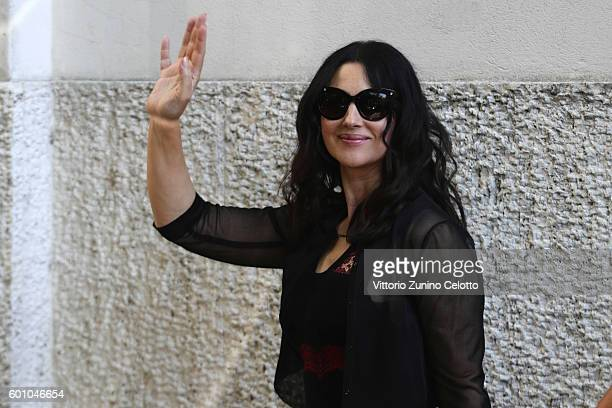 Monica Bellucci arrives at Lido during the 73rd Venice Film Festiva on September 9 2016 in Venice Italy