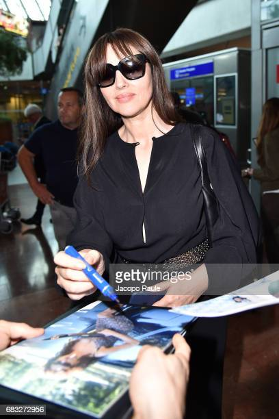 Monica Bellucci arrives at Nice airport ahead of the 70th annual Cannes Film Festival at on May 15 2017 in Cannes France