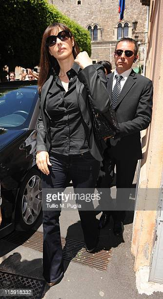 Monica Bellucci arrives at Palazzo dei Congressi to hold master class on June 12 2011 in Taormina Italy