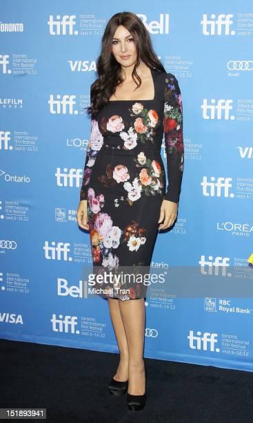 "Monica Bellucci arrives at ""Rhino Season"" photo call during the 2012 Toronto International Film Festival held at TIFF Bell Lightbox on September 12,..."