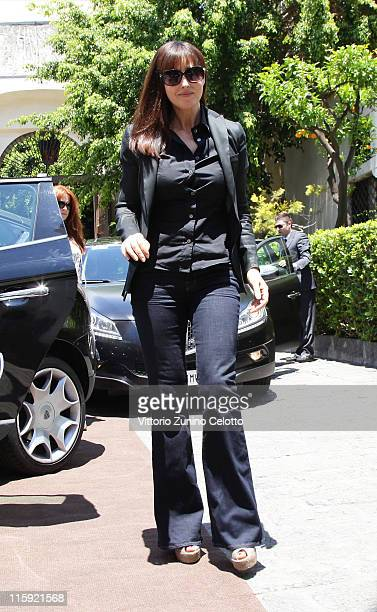 Monica Bellucci arrives at San Domenico Hotel during the 57th Taormina Film Fest on June 12 2011 in Taormina Italy