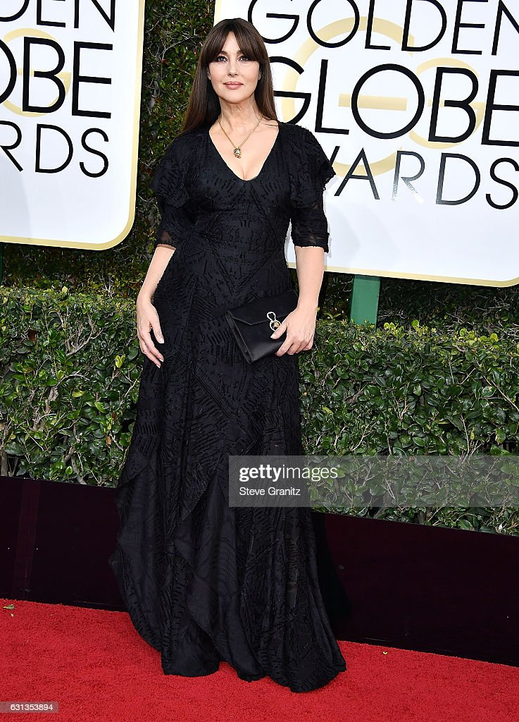 Monica Bellucci arrives at the 74th Annual Golden Globe Awards at The Beverly Hilton Hotel on January 8, 2017 in Beverly Hills, California.
