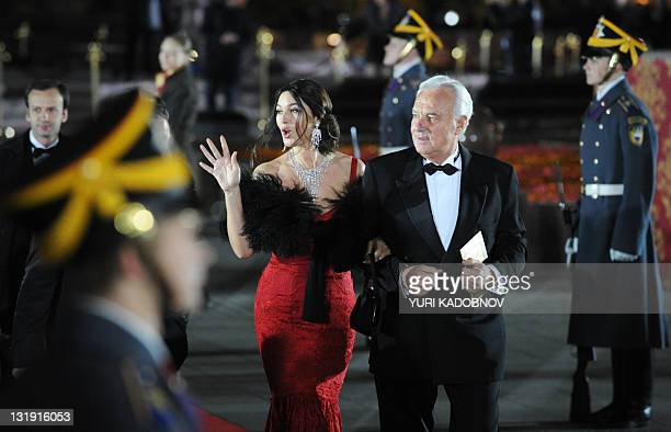 Monica Bellucci arrives for the reopening ceremony of the Bolshoi Theatre in Moscow on October 28 2011 Russia's famed Bolshoi Theatre finally lifted...