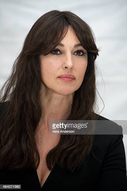 Monica Bellucci at the 'Spectre' Press Conference at the Corinthia Hotel London on October 23 2015 in London England
