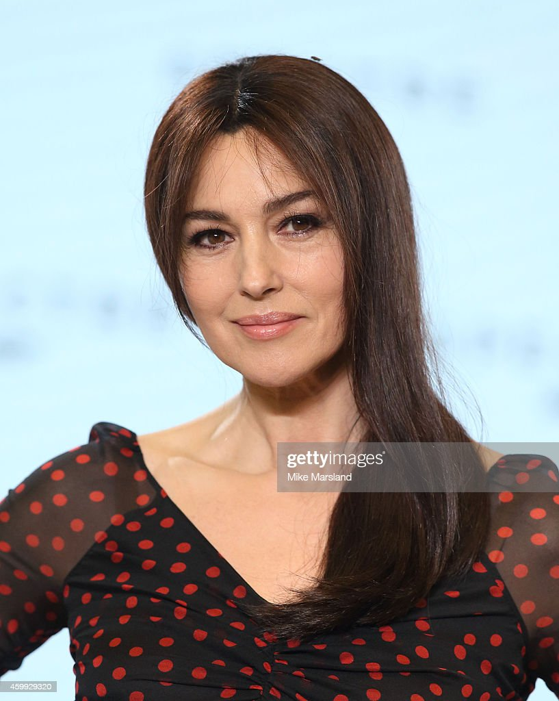 Monica Bellucci attends a photocall for Bond 24 at Pinewood Studios on December 4, 2014 in Iver Heath, England.
