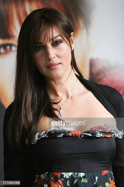 Monica Bellucci attends a photocall for ' Shoot'em Up' at Adriano's cinema on April 4 2008 in Rome Italy