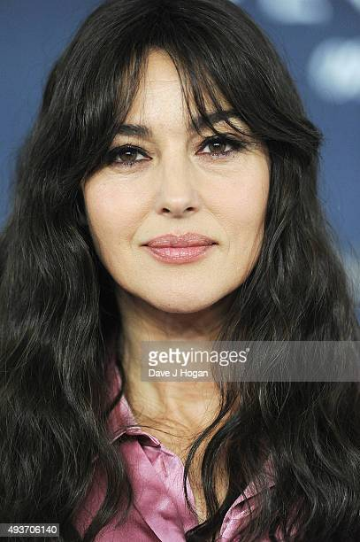 Monica Bellucci attends a photocall for 'Spectre' at Corinthia Hotel London on October 22 2015 in London England