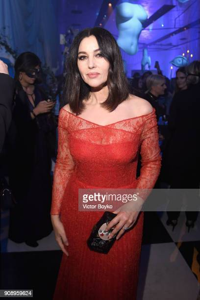 Monica Bellucci attends Le Bal Surrealiste Dior during Haute Couture Spring Summer 2018 show as part of Paris Fashion Week on January 22, 2018 in...