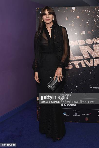 Monica Bellucci attends 'On The Milky Road' screening during the 60th BFI London Film Festival at Haymarket Cinema on October 15 2016 in London...