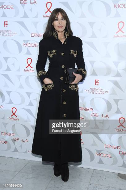 Monica Bellucci attends the 17th Diner De La Mode as part of Paris Fashion Week on January 22 2019 in Paris France