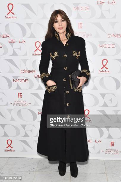 Monica Bellucci attends the 17th Diner De La Mode as part of Paris Fashion Week on January 24 2019 in Paris France