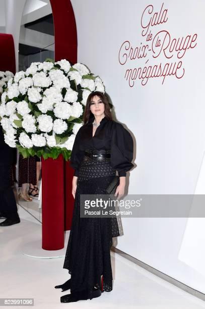Monica Bellucci attends the 69th Monaco Red Cross Ball Gala at Sporting MonteCarlo on July 28 2017 in MonteCarlo Monaco