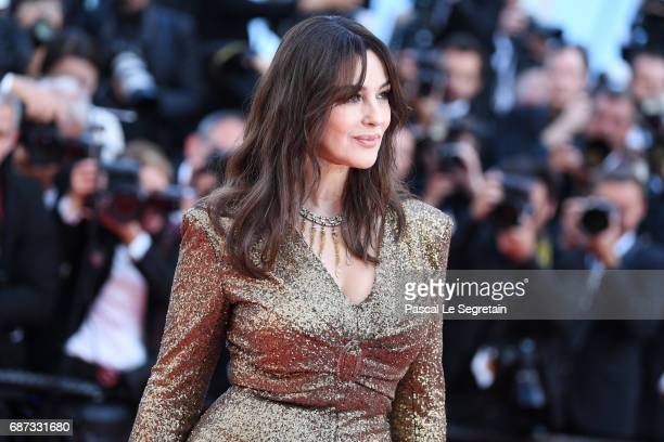 Monica Bellucci attends the 70th Anniversary screening during the 70th annual Cannes Film Festival at Palais des Festivals on May 23, 2017 in Cannes,...