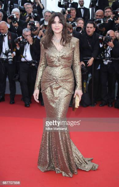 Monica Bellucci attends the 70th Anniversary screening during the 70th annual Cannes Film Festival at Palais des Festivals on May 23 2017 in Cannes...