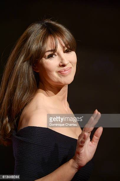 Monica Bellucci attends the 8th Film Festival Lumiere In Lyon Opening Ceremony on October 8 2016 in Lyon France