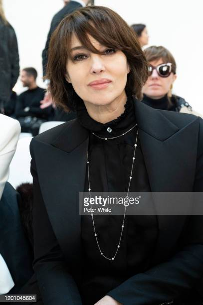 Monica Bellucci attends the Alexandre Vauthier Haute Couture Spring/Summer 2020 show as part of Paris Fashion Week on January 21, 2020 in Paris,...