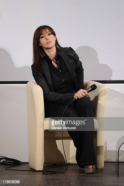 Monica Bellucci attends the 'Campus Taormina Special' Monica Bellucci Meets The Students during the 57th Taormina Film Fest 2011 on June 12 2011 in...
