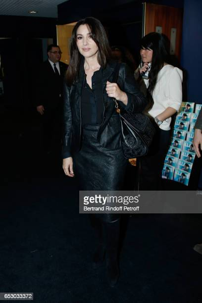 Monica Bellucci attends the 'Chacun sa vie' Paris Premiere at Cinema UGC Normandie on March 13 2017 in Paris France