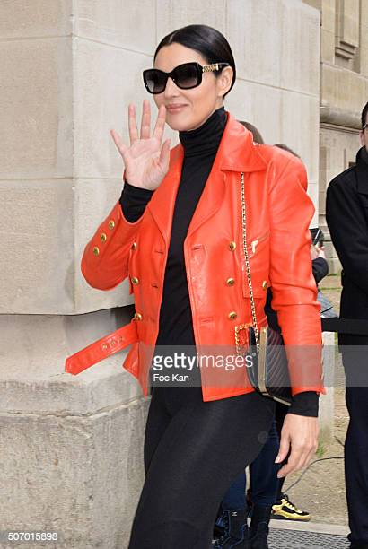 Monica Bellucci attends the Chanel Haute Couture Spring Summer 2016 show as part of Paris Fashion Week on January 26 2016 in Paris France